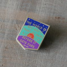 The World is Big Enamel Pin