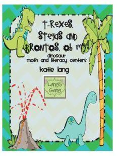 Dinosaur Math and Literacy Center Activities