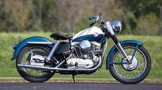 "In Elvis Presley released the hit song ""All Shook Up"", the first Frisbee was produced, and the Harley-Davidson Sportster model motorcycle was introduced. Known as the XL series, the. Harley Davidson Sportster, Ironhead Sportster, American Motorcycles, Cool Motorcycles, Vintage Motorcycles, Triumph Motorcycles, Motorcycle Images, Motorcycle Style, Motorcycle Tips"