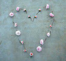 hartje en bloemetjes