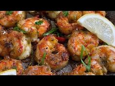 SALT AND PEPPER SHRIMP || EASY SHRIMP RECIPES || TERRI-ANN'S KITCHEN - YouTube Roasted Shrimp, Garlic Shrimp, Shrimp Pasta, Grilled Shrimp, Shrimp Recipes Easy, Fish Recipes, Recipies, Shell On Shrimp Recipe, Buttery Shrimp