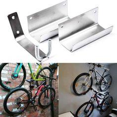 35 Trendy Ideas for mountain bike storage apartment wall mount Diy Bike Rack, Bike Hanger, Hanger Stand, Bicycle Storage, Wall Hanger, Garage Bike Rack, Bicycle Rack, Bicycle Shop, Diy Storage Shed
