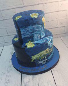 Van Gogh Starry Night Cake | NashvilleSweets.com