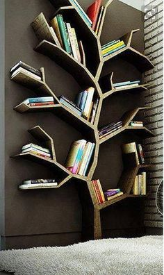 Books are born from the imagination of Authors, but the pages these tales are written on come from nature. What better way to showcase this than with a bookcase styled in the form of a tree.