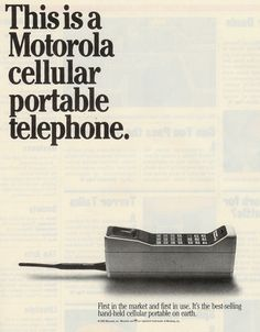Cellular Phone retro Ad