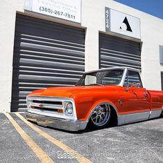 Hugger Orange by Juankybuilt 80s Chevy Truck, Chevy C10, Chevy Pickups, Chevrolet Trucks, Chevrolet Blazer, Bagged Trucks, C10 Trucks, Hot Rod Trucks, Dropped Trucks