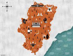Illustrated map of Aragon, by Rubén Hervás / Mapa ilustrado de Aragón, por Rubén Hervás Instagram, Illustration, Movie Posters, Illustrated Maps, Poster, Film Poster, Illustrations, Popcorn Posters, Film Posters