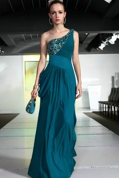 Dark Teal gown, this is interesting