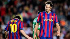 Zlatan Ibrahimovic and Lionel Messi   More buzz on: http://lovesportsbuzz.co.uk