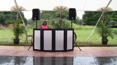 Plenty of room on the terrace for a dj or band set up in front of our black granite dance floor