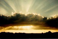 sunburst with rays