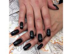 Black Matte Gloss by fudog from Nail Art Gallery Matte Top Coats, French Manicures, French Nails, Top Nail, Nail Art Galleries, Nails Magazine, Nail Tech, Gel Polish, Beauty