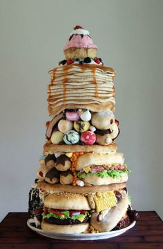 "Cake Design ""The Big Eater"" - Cake International 2014 - Cake by Laura Loukaides Pretty Cakes, Cute Cakes, Beautiful Cakes, Amazing Cakes, Amazing Food Art, Awesome Food, Amazing Things, Crazy Cakes, Fancy Cakes"
