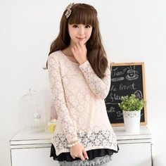 Buy '59 Seconds – Lace Panel Chiffon Hem Tunic' with Free International Shipping at YesStyle.com. Browse and shop for thousands of Asian fashion items from Hong Kong and more!