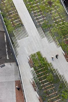 The High Line in New York City by James Corner Field Operations and Diller Scofidio + Renfro
