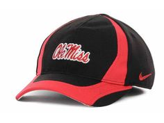 Ole Miss Rebels NCAA Nike Swoosh Flex Fitted Child Hat New With Tags #Nike #OleMissRebels