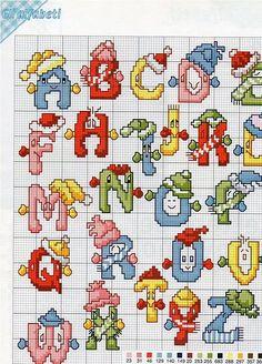 163 Fantastiche Immagini Su Lettere Punto Croce