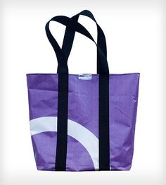 Recycled Taller Tote made from recycled billboard signs | Plywood People