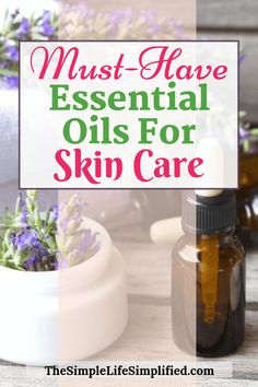 Some of the top essential oils to have are also great for skin care. Essential oils are a simple and natural way to up your beauty routine and get glowing skin. Here are the best essential oils for skin care, plus how to use each one as part of your The Simple Life, Skin Care Regimen, Skin Care Tips, Anti Aging Skin Care, Natural Skin Care, Natural Health, Beauty Care, Beauty Skin, Diy Beauty