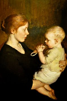 Marie Danforth Page - Her Littlest One, 1914 at National Museum of Women in the Arts Washington DC by mbell1975, via Flickr