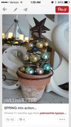 Christmas Tree idea using an old bed spring.....
