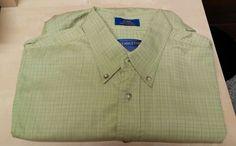 Pendleton Large Mens Light Green Pocket Shirt Short Sleeved Button Front #Pendleton #ButtonFront