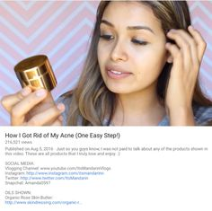 """How I got rid of my acne in one easy step"" By Its Mandarin Vlogs | #OrganicSkincare #NoMoreAcne #GreatSkin #cleanskincare #greenbeauty #nontoxicskincare"