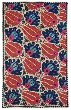 A brightly colored wall hanging; embroidered textiles could be found in homes and harems throughout the Ottoman Empire. (Photo courtesy of the Museum of Islamic Art)