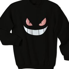 Evil Gengar Smile Face Sweater     Currently uses AlStyle, TearAwayª and Gildan brand of t-shirts for our order fulfillment. We use styles AlStyle 1301, 1302, 1309, 1901, 3381, 5301, Gildan 5000L, Fruit of the Loom, and others. * Available Size : S, M, L. XL, 2XL, 3XL *Available Colors : Black and Red  #Sweater #clothing #apparel #TeeMommy #TeeMommyApparel #pokemon #gengar #pokemonGo
