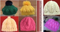 6 Hermosos GORROS con video tutorial