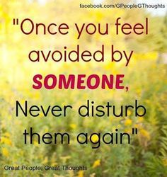 Once you feel avoided....Delete them out of your life