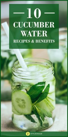 Cucumbers are loaded with vitamins, minerals, dietary fiber, and phytonutrients that help maintain a healthy body and mind. Store this nutritious drink in an airtight jar or glass bottle. You can easily carry it with you wherever you go and sip on it throughout the day to feel fresh and active.
