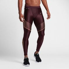 NIKE MEN POWER SPEED TIGHT 717751 023 017 018 025 411 681 Nike Tech Fleece Pants, Mens Running Tights, Anaerobic Exercise, Gym Wear, Aerobics, Nike Men, Leather Pants, Stockings, Fitness