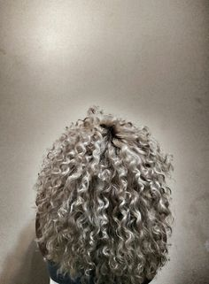 Ash Blonde curly hair