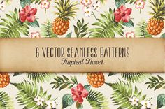 Seamless tropical patterns Vol.2 by Graphic Box on Creative Market