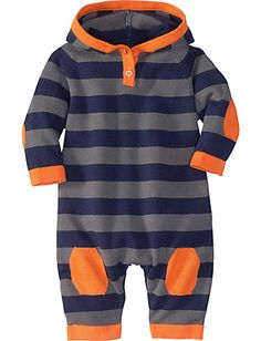 a perfect fall look for your little one with this cozy hoodie sweater romper by hanna andersson.