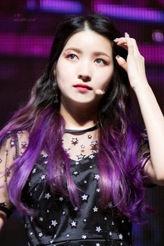 Sowon Comeback Mnet : The time for the moon nigth Extended Play, Purple Hair, Ombre Hair, Kpop Girl Groups, Kpop Girls, Kpop Hair, Gfriend Sowon, Cloud Dancer, G Friend
