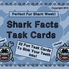 PERFECT FOR SHARK WEEK!  Use these task cards as a fun activity for your unit on SHARKS.  Great activity for students to complete during or after d...