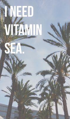 I need vitamin sea.