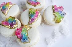 Unicorn Princess, Rock Candy, Macarons, Sweets, Rainbow, Hand Painted, Pretty, Pink, Instagram