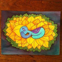 """""""Sunflower birth"""" copyright Sophie Stok 2015"""