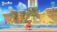 lol Mario in swim trunks