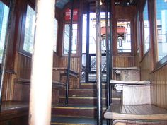 Angels Flight Railway in the Bunker Hill district downtown Los Angeles, Ca.