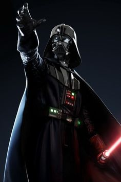 Darth Vader is reaching out for something