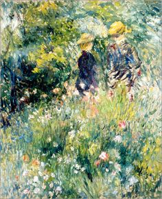 Pierre-Auguste Renoir - Meeting in the rose garden