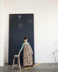 Bobo Choses winter 2013 unusual full length skirt look for kids fashion for fall.