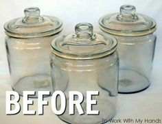 If you have glass jars and want to know how you can repurpose them to decorate your home for cheap check out these great ideas. Upcycle glass jars DIY projects will have you decorating your home quickly and easily. Mason Jars, Glass Apothecary Jars, Bottles And Jars, Mason Jar Crafts, Glass Bottles, Glass Vase, Home Crafts, Diy Home Decor, Diy Crafts
