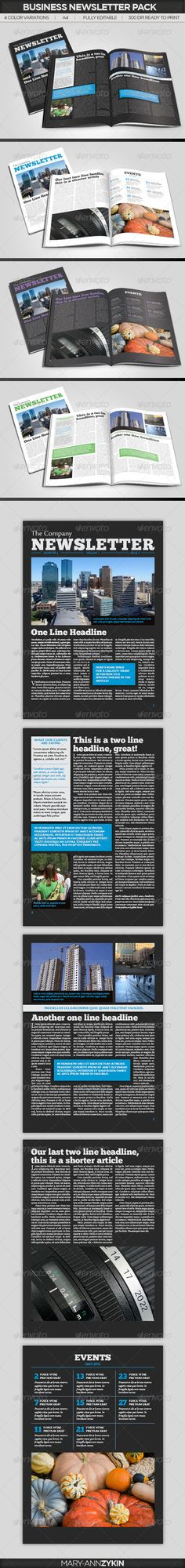 Business Newsletter V01 Newsletter templates, Print templates - free business newsletter templates