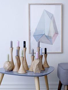 Geometric candel holders and prints - Love. Via Bloomingville AW13 - www.bloomingville.com