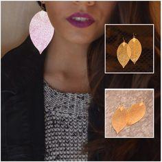"Metal Leaf Earrings - Very light weight 100% Brand new.  Size 1.6"" Wide by 3.5"" Long Fish Hook Back.   Smoke free home. Farah Jewelry Jewelry Earrings"